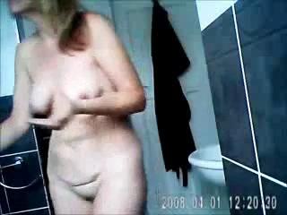 Bad boy spyinh mom fully nude in bath room. Hidden