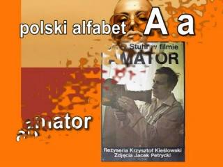 Polski alfabet. A a.