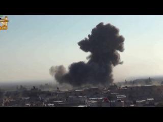 Сирия. Авиация работает по позициям бородачей. 15 12 13