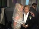 Страстный свадебный поцелуй Анастасии Волочковой и Николая Баскова