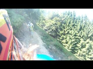 Я и Леха Пилипец 2013 синяя трасса