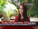 Aaradhya's First Song for Aishwarya Rai