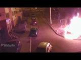 Жители дома подожгли BMW X6 за парковку на газоне