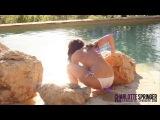 Set 43 - White Bikini by the pool