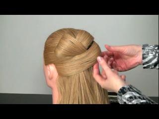 Прическа для длинных волос на Новый год!