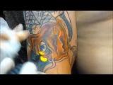 Cover up tattoo failed to a japanese fish - Recouvrement d'un tatouage raté par une carpe japonaise