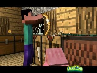Анимация№5-Funny in Minecraft(Прикол в Майнкравте)