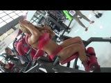 RIMINI WELLNESS 2014 - ZSUZSANNA TOLDI Amazing Charming Girl Bodybuilder at Rudy Panatta Stand silatela