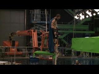 Студийные съемки Салливана Степлтона на воде для фильма