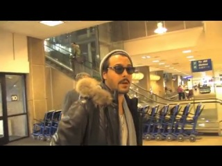 Jack Huston at Salt Lake City Airport on 1-21 and talks about working with Steve Buscemi