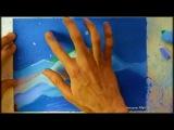 Пейзаж нарисованный мелом,  art brut, арт брют, искусство   Александр Алёнин. картина