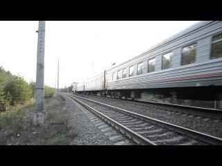 ТЭП70БС-093 с поездом №5 Петрозаводск - С.Петербург на перегоне Янега - Лодейное Поле