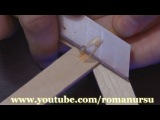 Как сделать самодельный мини арбалет своими руками - How to make a homemade mini crossbow