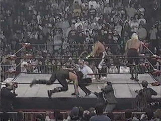 WCW Monday Nigth Nitro, 2 March 1998, Tag-team match, Hulk Hogan & Scott Hall vs. Randy Savage & Sting