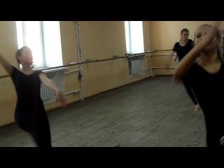 открытый урок по современному танцу, комбинация 7