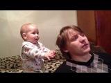 Делаю папе прическу)