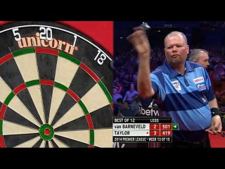 Raymond van Barneveld vs Phil Taylor (2014 Premier League Darts / Week 13)