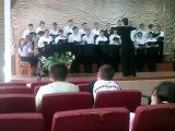 Дирижор: Сазанова Анна, мужской хор ВМПК(