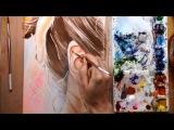 Как нарисовать волосы и уши акварелью