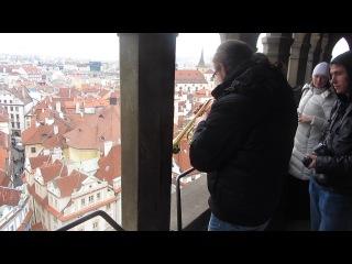 Астрономические часы, Ратуша, Прага, вид из башни.
