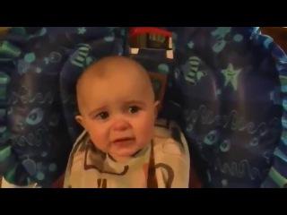 эмоции малыша на песню мамы о любви