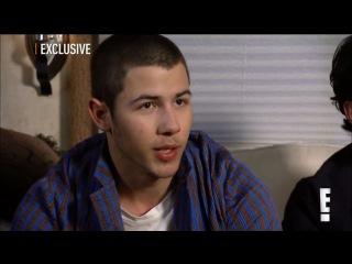 Backstage at Jonas Brothers Pom Poms Video