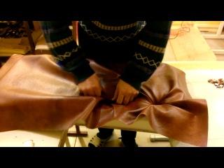 Каретная стяжка . Работа иглой для пришивки.