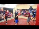 Тренировки по боксу - Симферополь. Отработка в парах