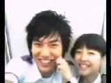 Ли Мин Хо и Пак Бо Ён за кадром на съемочной площадке