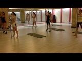 Pole plastic lesson. Studio pole dance