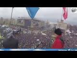 """1 кАНАЛ про ''пару сотен человек'' на #євромайдан #EuroMaidan Russian Tv says""""200-300 people"""