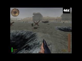 Прохождение Medal of Honor Allied Assault #3 - Оверлорд (1 часть) Пляж Омаха