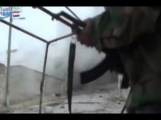 Жесть в Сирии. Меткий выстрел из танка