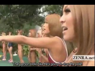 Subtitled Japanese bikini gyaru fellatio phone freakout - 3 min