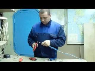 Как делать бандаж скрутки. Соединение многожильного провода с одножильным. (Сергей Панагушин)...