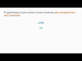 Русский язык. 6 класс. Урок 31. Возвратные местоимения.