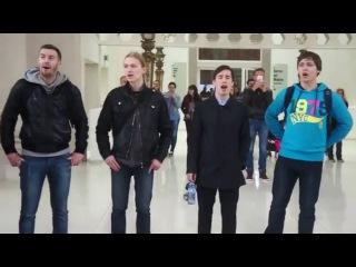Academic Choir of PetrSU. Flashmob @ National Art Museum, Barcelona.