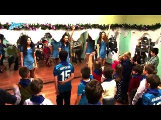 «Зенит-ТВ»: новогодние зенитовские елки в детском городе профессий «КидБург»»