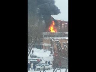 пожар в Перми у территории ПГУ
