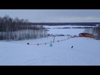 3-ий урок катания на сноуборде!)