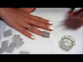 Newspaper Nail Art - Газетный принт на ногтях -)