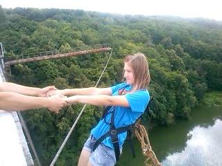 Викуся , первый прыжок Житомир мост =)13,07,2013
