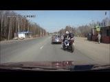 ДПС и мотоциклист