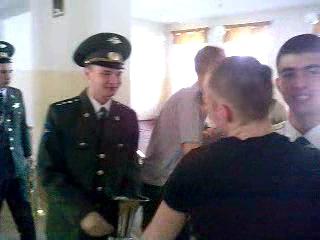 Мои проводы ДОМОЙ....г.Мирный (ДМБ 2012)Космические Войска