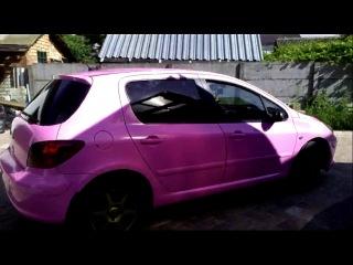 пежо 307 в розовый глянец