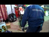 Бортировка и установка колеса