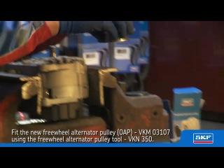 Замена обгонной муфты генератора VW Passat (B5) 1.9 TDI