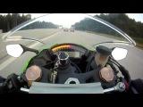 Байкер на Kawasaki Ninja ZX-10R решил поганяться с заряженной Audi RS6 от ABT