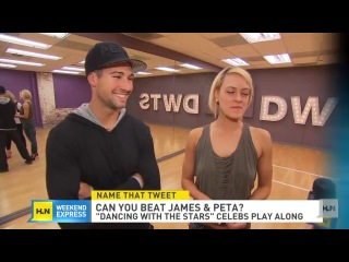 On the dance floor, James Maslow and Peta Murgatroyd are affectionately known as