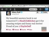 2013 - Хейли Дафф рассказала о приготовлении еды вместе с Хилари и Лукой.